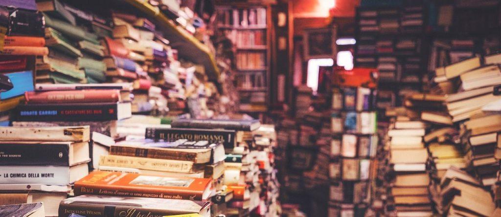 In dieser Artikelreihe stelle ich Ihnen eine tolle Möglichkeit zur Literaturverwaltung vor: ein digitaler Zettelkasten mit dem Programm Zkn3. Im Bild: Ein Haufen Bücher.